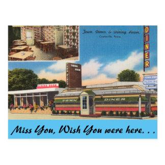 Pennsylvania, Town Diner, Coatesville Postcard