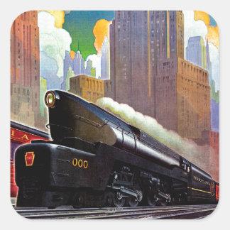 Pennsylvania Train by Unknown Square Sticker