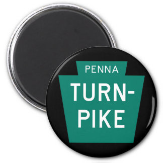 Pennsylvania Turnpike 2 Inch Round Magnet