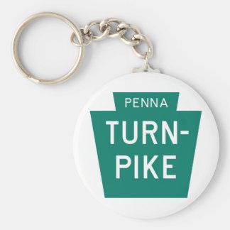 Pennsylvania Turnpike Basic Round Button Keychain