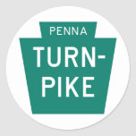 Pennsylvania Turnpike Classic Round Sticker