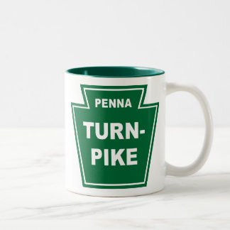 Pennsylvania Turnpike Two-Tone Coffee Mug