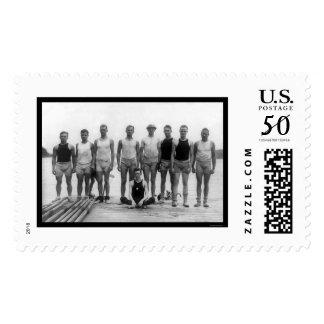 Pennsylvania University Rowing Team 1915 Postage