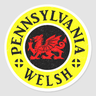 Pennsylvania Welsh American Classic Round Sticker