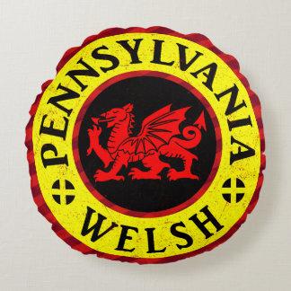 Pennsylvania Welsh American Round Pillow