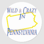 Pennsylvania - Wild and Crazy Round Sticker