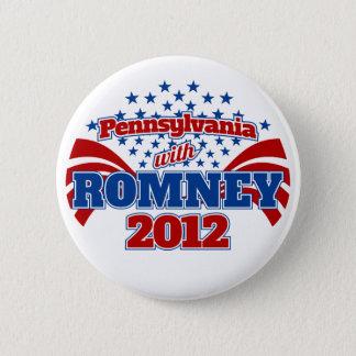 Pennsylvania with Romney 2012 Pinback Button