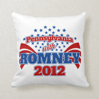 Pennsylvania with Romney 2012 Throw Pillow
