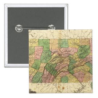 Pennsylvania y New Jersey 2 Pin Cuadrada 5 Cm