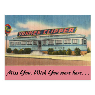 Pennsylvania, Yankee Clipper Diner Postcard