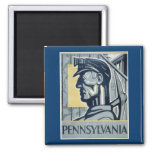 Pennsylvanian Coal Miner Fridge Magnet