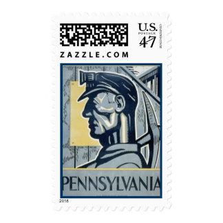 Pennsylvanian Coal Miner Postage
