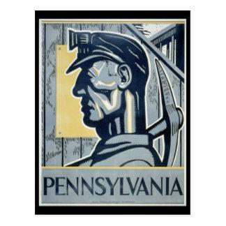 Pennsylvanian Coal Miner Postcard