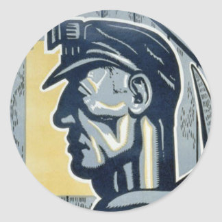 Pennsylvanian Coal Miner Classic Round Sticker