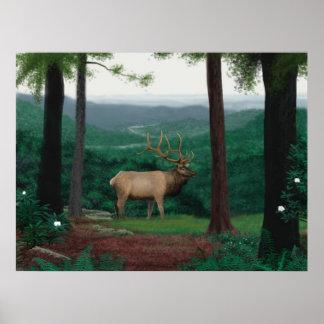 Pennsylvanian Elk Poster