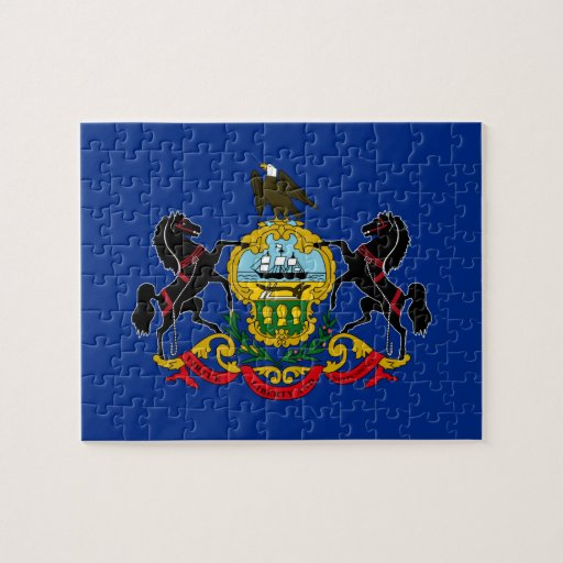 Pennsylvanian Flag Jigsaw Puzzle