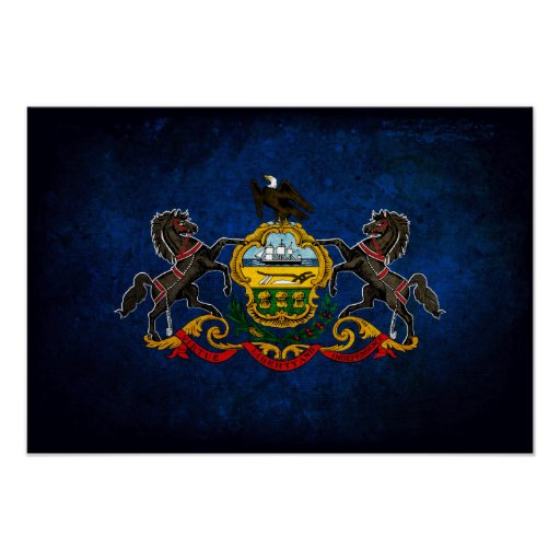 Pennsylvanian Flag Poster