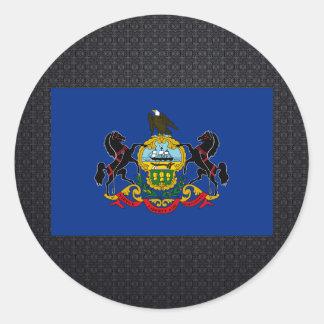 Pennsylvanian flag classic round sticker