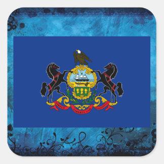 Pennsylvanian flag square sticker