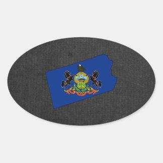 Pennsylvanian Trip Souvenir Oval Sticker