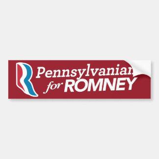 Pennsylvanians For Romney Sticker CUSTOM COLOR Car Bumper Sticker