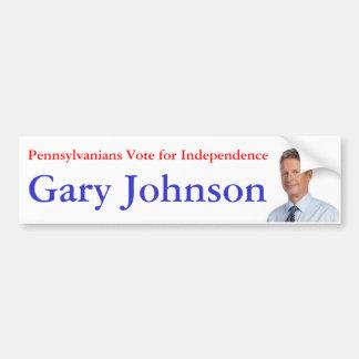 Pennsylvanians Vote for Independence Car Bumper Sticker