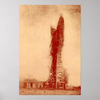 Pennville, Gusher del pozo del campo petrolífero d Póster