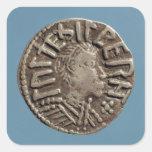 Penny Aethelberht Anglo-Saxon King East Anglia. Square Sticker