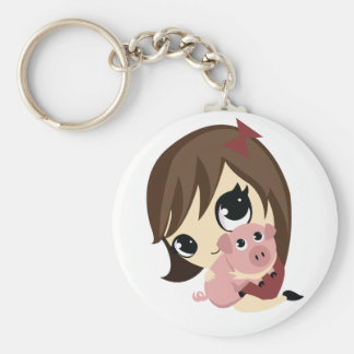 Penny and Snickerdoodle Basic Round Button Keychain