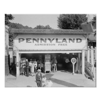 Penny Arcade, 1928. Vintage Photo Poster