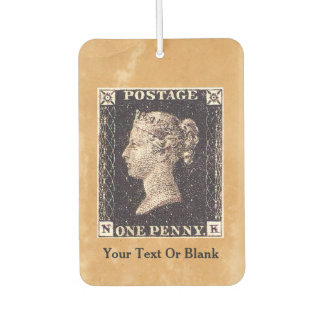Penny Black Postage Stamp Car Air Freshener