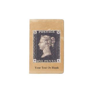 Penny Black Postage Stamp Pocket Moleskine Notebook