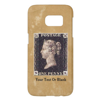 Penny Black Postage Stamp Samsung Galaxy S7 Case