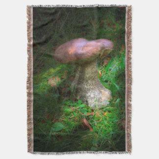 Penny Bun Woodland Mushroom Throw