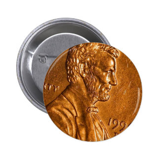 Penny Cents Copper Lincoln 2 Inch Round Button