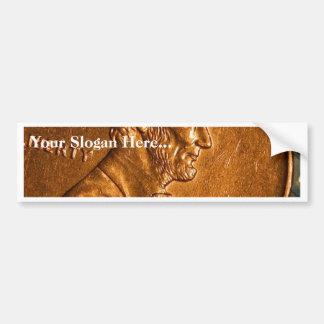 Penny Cents Copper Lincoln Bumper Stickers