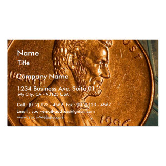 Penny Cents Copper Lincoln Business Card