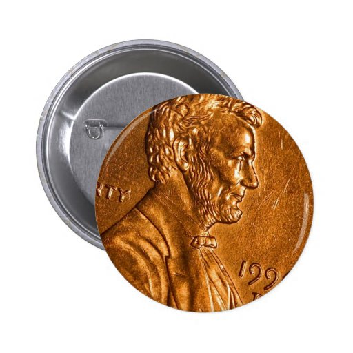 Penny Cents Copper Lincoln Pin