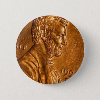 Penny Cents Copper Lincoln Pinback Button
