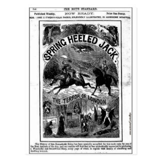 penny dreadful - spring-heeled jack postcard