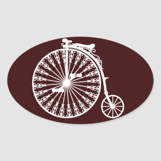 Penny-farthing2 Oval Sticker