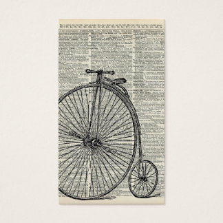 Penny Farthing bicycle Business Card