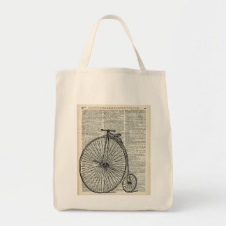 Penny Farthing bicycle Grocery Tote Bag