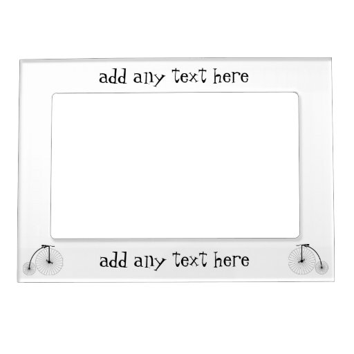 Penny Farthing Bicycle Just Add Text Photo Frame Magnet