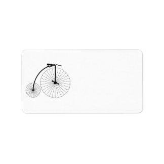 Penny Farthing Bicycle Address Label