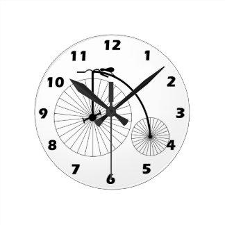 Penny Farthing Bicycle Round Wallclock