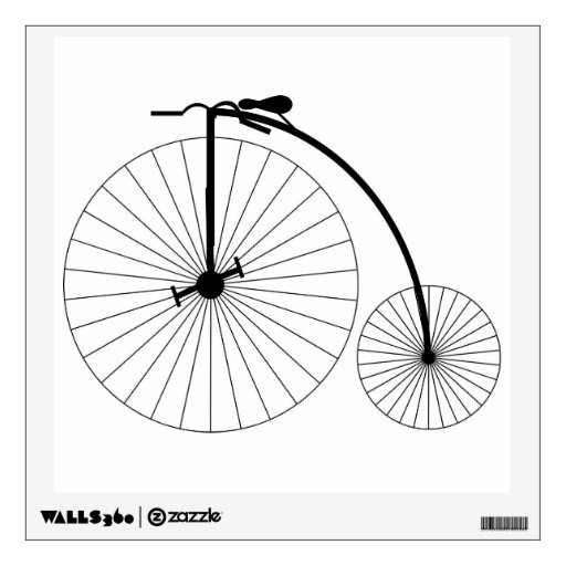 Penny Farthing Bicycle Room Graphics