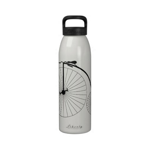 Penny Farthing Bicycle Reusable Water Bottle