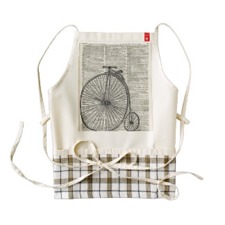 Penny Farthing bicycle Zazzle HEART Apron
