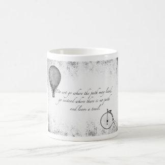 Penny Farthing & Hot Air Baloon Quote Mug